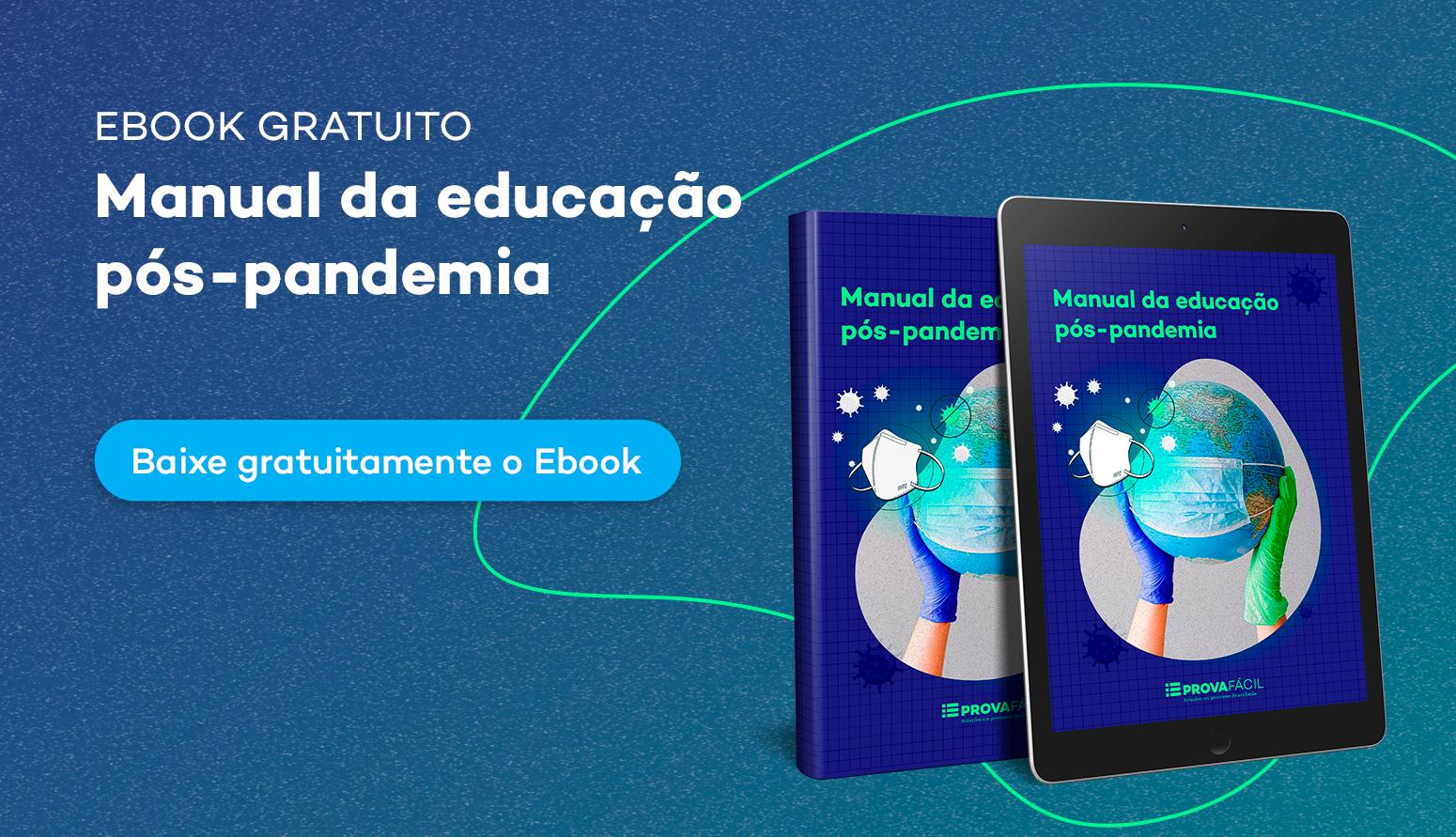capa educação pós pandemia ebook prova fácil